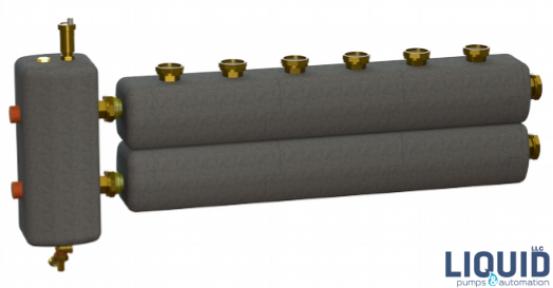 Коллектор в комплекте с гидрострелкой  ОКС-РР-6-4-ВН-НР-і
