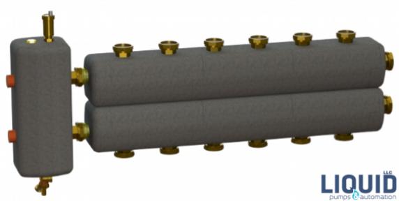 Коллектор в комплекте с гидрострелкой  ОКС-РР-6-7-КН-НР-і