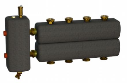 Коллектор в комплекте с гидрострелкой  ОКС-РР-3-4-К-НГ-і
