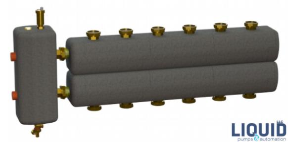 Коллектор в комплекте с гидрострелкой  ОКС-РР-6-6-К-НР-і