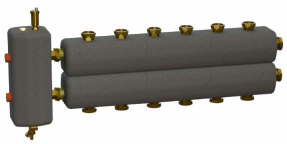 Коллектор в комплекте с гидрострелкой  ОКС-РР-3-7-КН-НГ-і