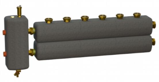 Коллектор в комплекте с гидрострелкой  ОКС-РР-2-4-ВН-НР-і